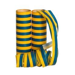 Serpentiner blå/gul 2 pack