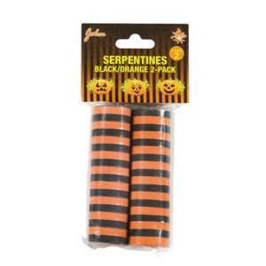 Serpentiner svart orange 2pack