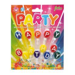 Tårtljus flerfärgad ballonger Happy birthday