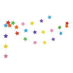 Girlang stjärnor flerfärgade