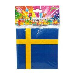 Servetter svenska flaggan