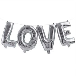 Ballonggirlang LOVE - silver