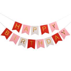 Girlang Happy birthday flerfärgad