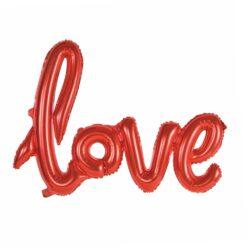 Röd folieballong Love