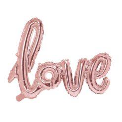 Roséguld folieballong Love