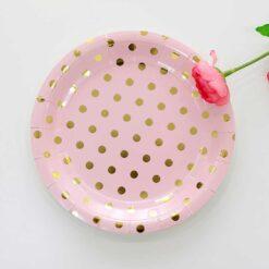 Tallrik prickar rosa