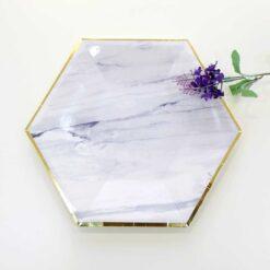 Tallrik marmor diamant lux