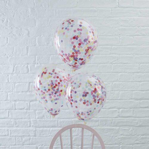 konfettiballonger flerfärgade