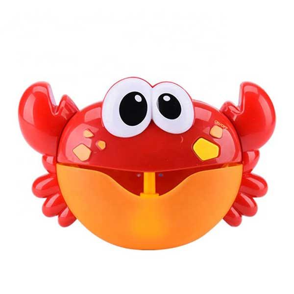 Musikalisk krabba med bubblor för bad röd