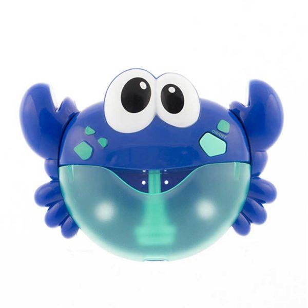Musikalisk krabba med bubblor för bad blå