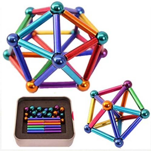 Magnetisk konstruktionsleksak flerfärgad