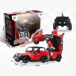 Radiostyrd biltransformationsrobot- styrs med handgester och fjärrkontroll - jeep