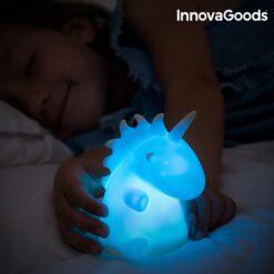 LED Unicorn flerfärgad enhörningslampa