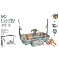 Set vattenleksak fiska ankor och fiskar - turkos