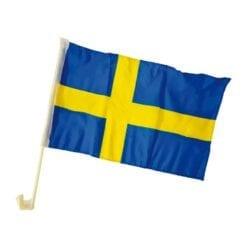 Bilflagga svensk 2pack