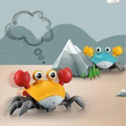 Interagerande leksak gående krabba med sensor