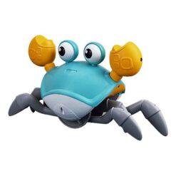 Interagerande leksak gående krabba med sensor turkos, grå, vit och vit