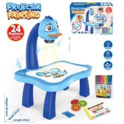 Pedagogiskt set med ritbord och projektor