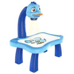 Pedagogiskt set med ritbord och projektor blå