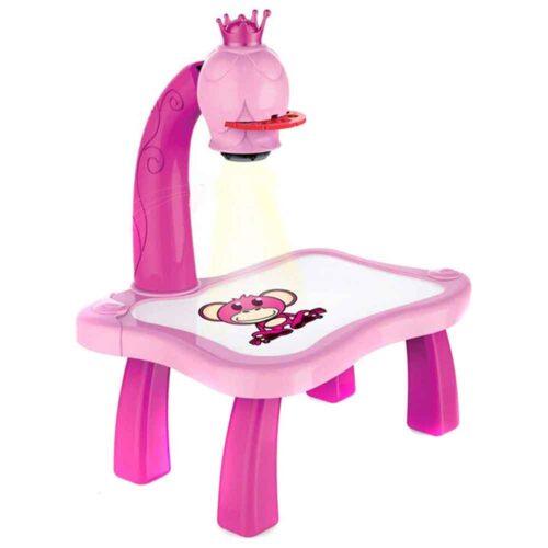 Pedagogiskt set med ritbord och projektor rosa