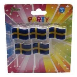 Tårtljus Svenska flaggan 5pack