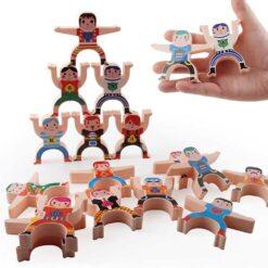 Uppsättning leksaks stackrobats med siffror