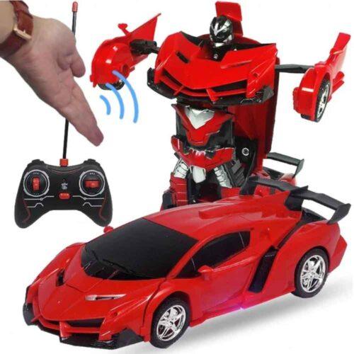 Radiostyrd biltransformationsrobot- med fjärrkontroll