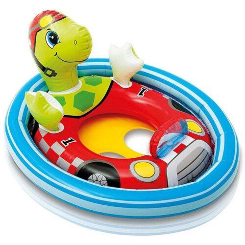 Animerad söt badring för småbarn - Tuffa sköldpaddan