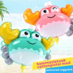 Sommarleksak vattenpistol med animerad ryggsäck