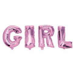 Folieballonger Girl rosa