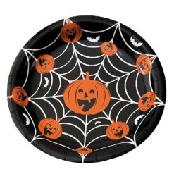 Halloweentallrikar pumpa