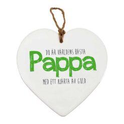 "Hjärtformad tavla ""pappa"""