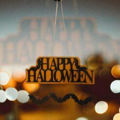 Halloween -dörr Trädekoration