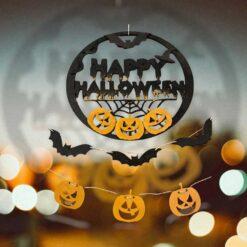 Halloween -dörr Trädekoration set