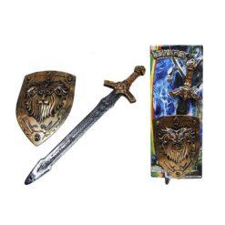 Set med svärd och sköld