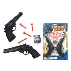 Uppsättning 2 Pistoler med Pilar Crack Shot