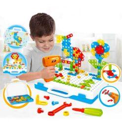 Kreativ byggväska med leksaksverktyg