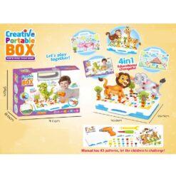 Kreativ byggväska med leksaksverktyg 5